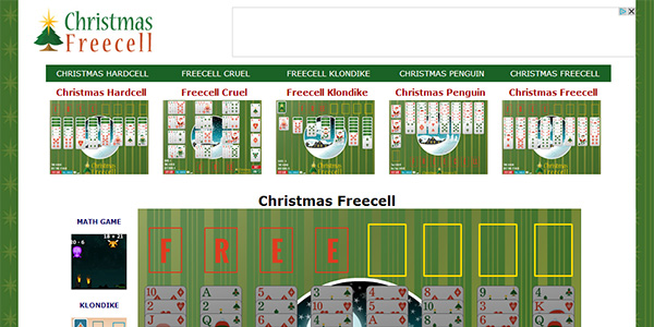 Christmas Freecell Screen Shot