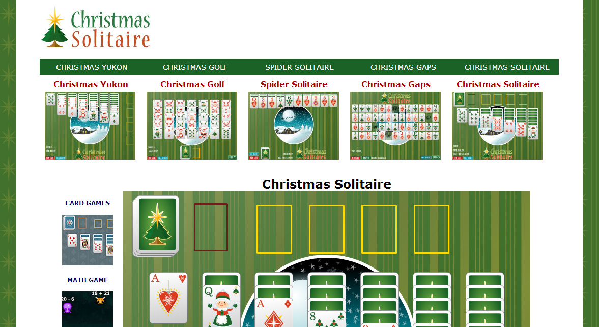 Christmas Solitaire Screen Shot