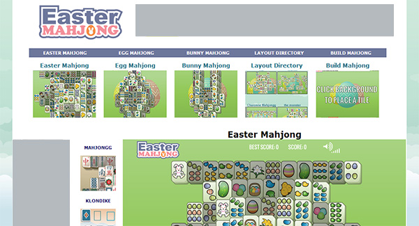 Easter Mahjong Screen Shot