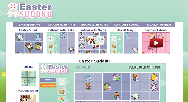 Easter Sudoku Screen Shot