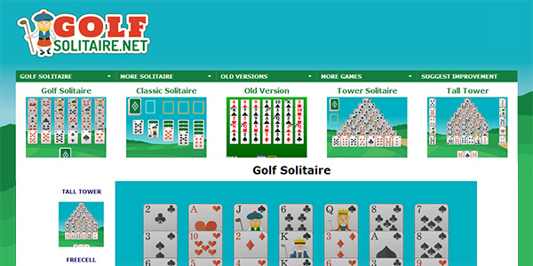 Golf Solitaire Screen Shot
