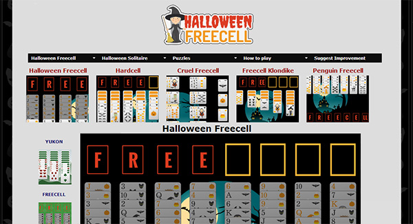 Halloween Freecell Screen Shot