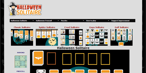 Halloween Solitaire Screen Shot
