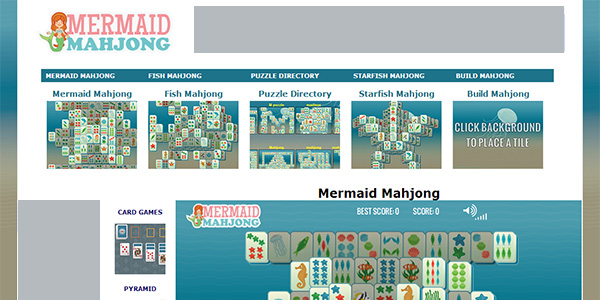 Mermaid Mahjong Screen Shot