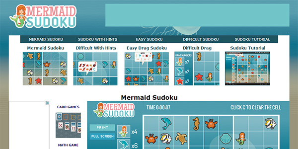 Mermaid Sudoku Screen Shot