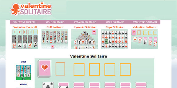 Valentine's Day Solitaire Screen Shot