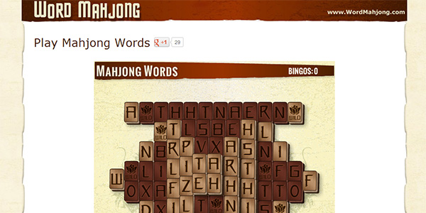 Word Mahjong Screen Shot
