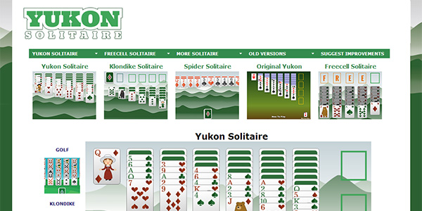 Yukon Solitaire Screen Shot